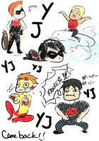 Young Justice Doodlez by jandrews323