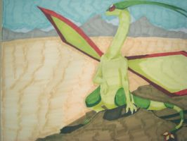 Commission Example Flygon by Silverishness
