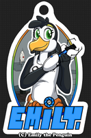 Fursona Badge (my first badge EVAR) by OEmilyThePenguinO