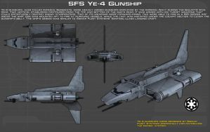 SFS Ye-4 Gunship ortho [Update] by unusualsuspex