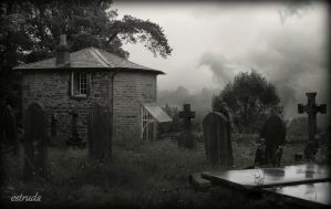 The Spooky Cottage In The Cemetery by Estruda
