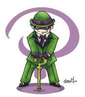The riddler chibi by Mother-nono