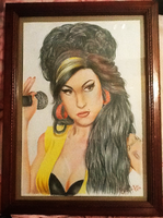 Amy Winehouse portrait by miyukiZETA