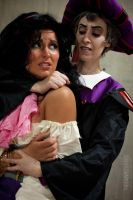 Esmeralda and Frollo Cosplay by MakeupGoddess