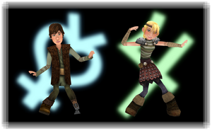 MMD Newcomers - Hiccup and Astrid by BryanRush