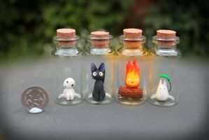 Studio Ghibli Critters in Bottles by KAkkoiITO