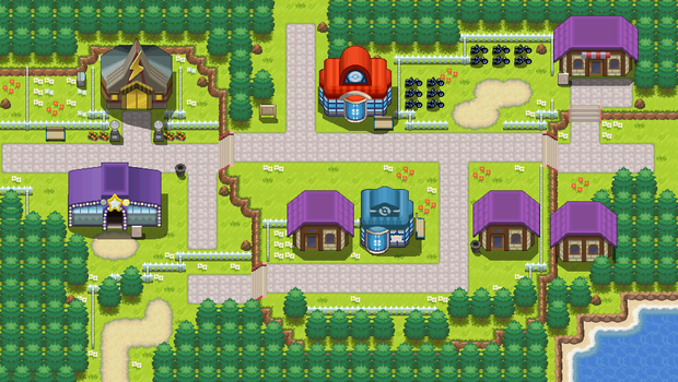 Mauville City remake by Pokemon-Diamond
