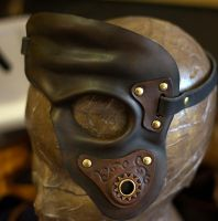 Steampunk Leather Mask by OsborneArts