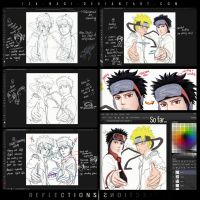 Reflections - Work Process So Far by Iza-nagi