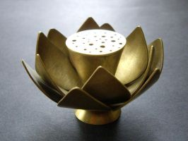 Lotus Incense Stick Holder by silver-zaira