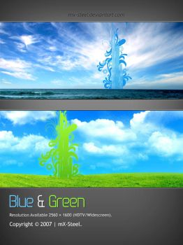 Blue and Green by mx-steel