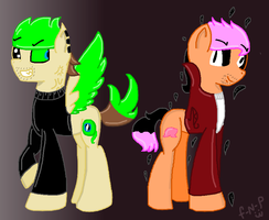 Anti-septic Jack And Darkipleir (ponies) by fanastic-ninja-poni