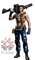 RE0HD Billy Wolf Force Costume [PNG] by 972oTeV