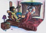 2D and Murdoc's late night by krazorspoon