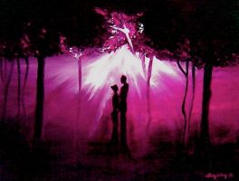 lovers in the forest by Kistit