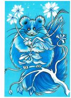 Blue Mouse by ebe-kastein