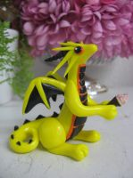 polymer clay ice cream dragon by assassin-kitty