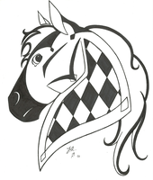 Checkerboard Horse by horsehugger626