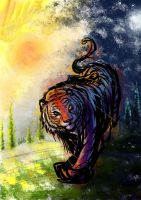 Tiger : Day and night by SharonAnkh