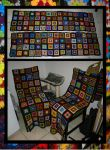 Dual Granny Square Chair Blanket - COMMISSION by KnitLizzy