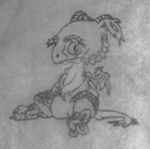Baby Dragon Sketch by Crystal-Rose1981 by Crystal-Rose1981