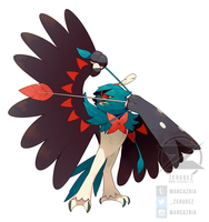 Decidueye (Shiny version) by zerudez
