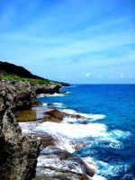 Cliffs of Guam by spidermonkeykiss