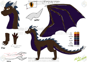 Stealthy Design Ref Sheet by Mike-Dragon
