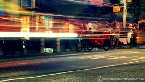 light trails by katherineisart
