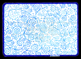 Blue Swirls ACEO 35 by Siobhan68