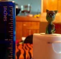 My Jacksepticeye Cat statue by MangleThePirate14