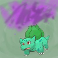 Bulbasaur used Poisonpowder! by Kame-Ghost