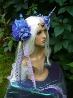 Oceanbreeze Unicorn - handmade Headgear by Ganjamira