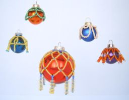 X-mas project II-3: Beaded covers by digikijo