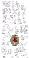 Sketch dump (early Oct) by Granitoons