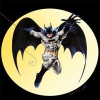 Batman Pin-Up By Alex Horley Digitally Colored by jovigolf