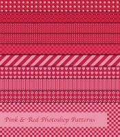 Pink And Red Photoshop Patterns by sdwhaven