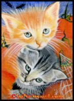 Halloween Critters  ACEO by Katerina-Art
