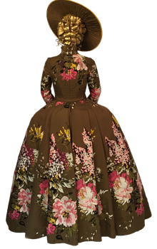 Claire Fraser's Brown Flower Dress Png by DLR-Designs