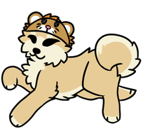 doge with a lion hat by ufodoggo