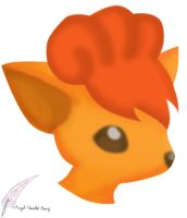 Gift: Vulpix by Crescent-Winged