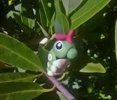 Wild Caterpie! by Tinebell
