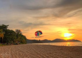Sunset of batu Feringghi Beach, Penang by fighteden