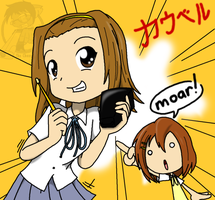 K-on: Moar cowbell by Sandwich-Anomaly
