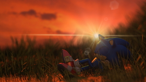 Sonic Sunset by samanthann1234