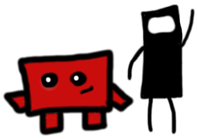 Commander Video and Meat Boy by Byrax-Krenod