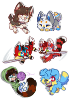 Chibi batch 1 by Azuremon