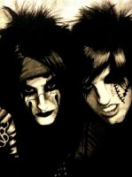 CC and Jake PItts painting by evelynsixx