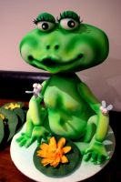 Frog 3D cake by Verusca