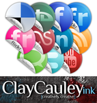 Sticker Style Social Media by claycauleyinc